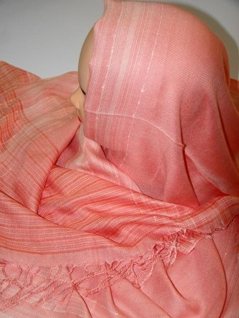 Pink cotton hijab