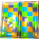 Checker Cracker Platter - Handmade Fused Glass