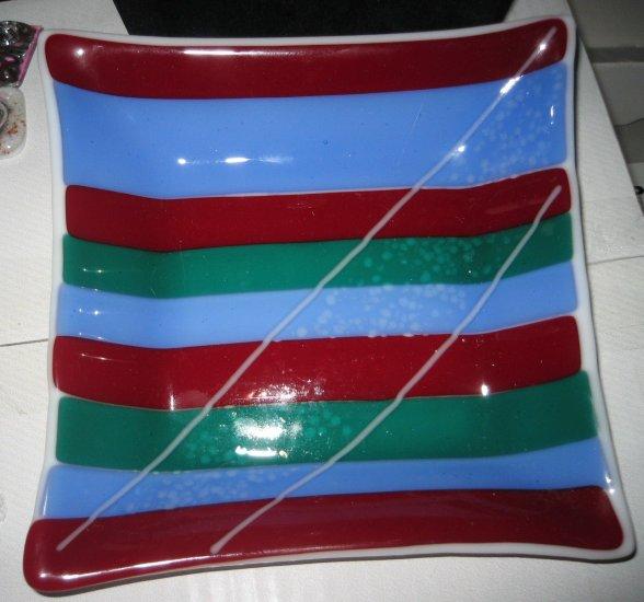 Stripes Dish - Handmade Fused Glass