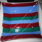 Stripes Dish - Handmade Fused Glass