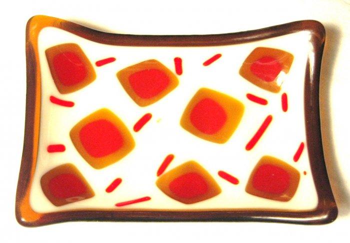 Sprinkle Soap Dish - Handmade Fused Glass
