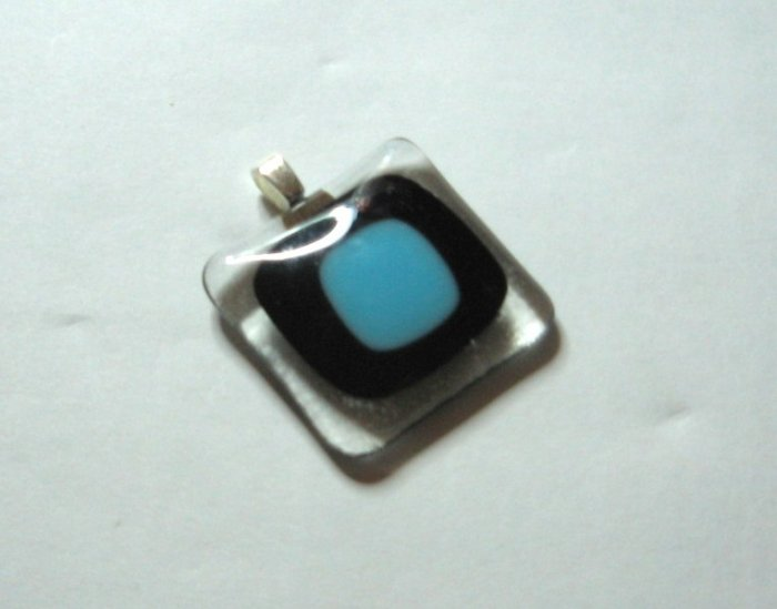 Punching Pendant - Handmade Fused Glass