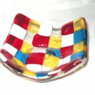 Tiny Squares Tea Light Candle Holder - Handmade Fused Glass