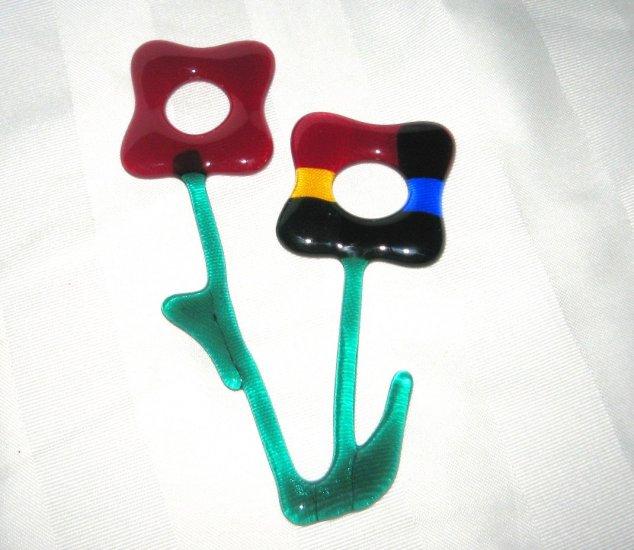 Fused Flower Sun Catcher or Desk Ornament - Handmade
