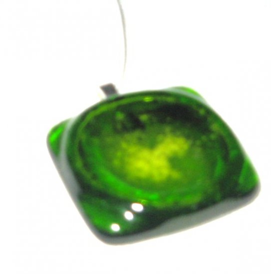 Burst your Bubble Pendant - Handmade Fused Glass