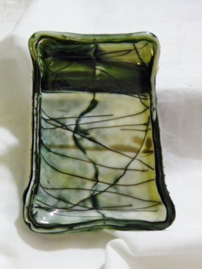 Glass Marble Soap Dish