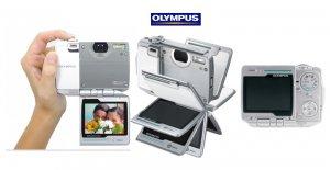 "Olympus IR500 - 4MegaPixels Digi Cam with 30x Zoom and Flip Style 2.5"" Sem-Transmissive LCD"