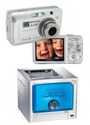 Olympus Stylus 500 - 5.0 Megapixel Digital Camera + Photo Printer Combo