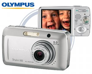 Olympus Stylus 500 - 5.0 Megapixel Digital Camera ,3x Optical Zoom,2.5inch HyperCrystal LCD