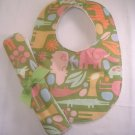 Bib and Burp Cloth Set, Baby Bib Zoo