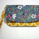 Foldover Clutch Kitty Floral