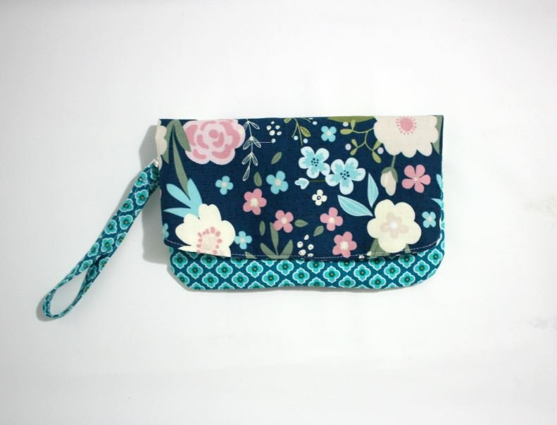 Foldover Clutch, Womens Wallet Lainsville Floral