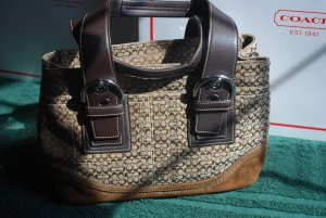 (New) Coach (SOHO) Cloth Tote-Suede bottom (MSRP) $328  **Save 128.00**