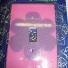 Pink Purple Flower Light switch plate