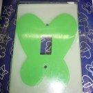 green butterfly light switch plate