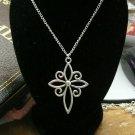 Celtic Cross Silver Necklace