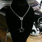 Drop star Lariat necklace