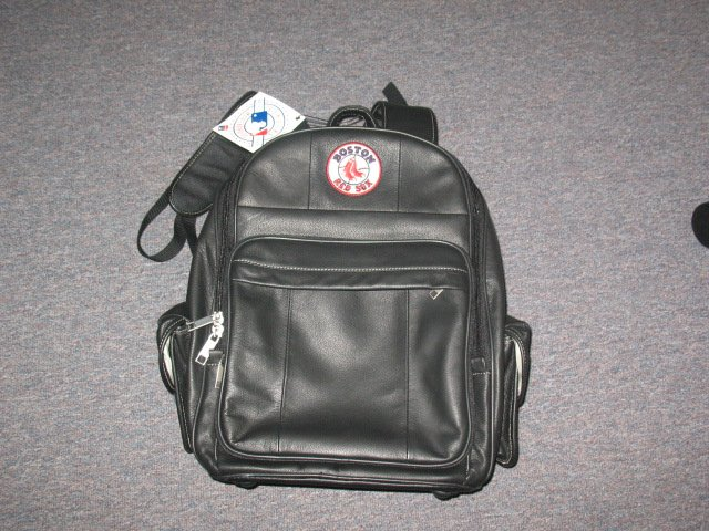 Genuine Leather Red Sox BACKPACK.