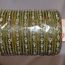 Big lot of 24 and 20 chudis, Bridal Bangles each color size 2.0, 2.2, 2.4,2.6