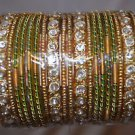 Big lot of 20 chudis, Bridal Bangles each color size 2.0, 2.6
