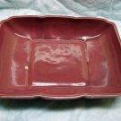 Vintage Cookson Pottery Low Dish Planter Console Mauve