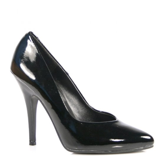 NEW SEXY BLACK PATENT CLASSIC 5 IN PUMPS HEELS -  SIZE 9 or SIZE 15