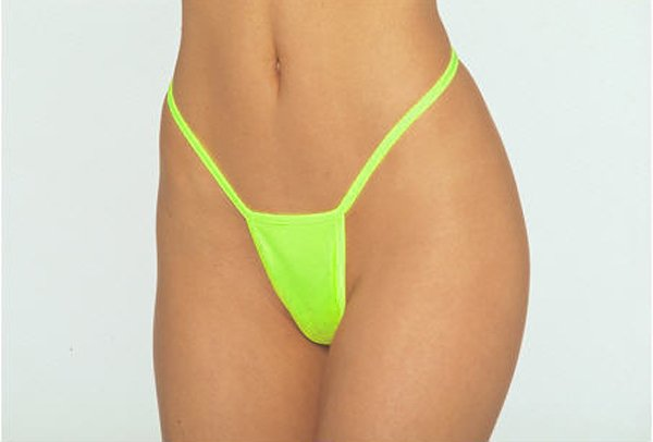 SEXY LIME GREEN NYLON MICRO THONG - ONE SIZE