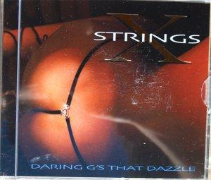 SEXY XSTRINGS BLACK MESH SAPPHIRE RHINESTONE DETAIL G-STRING - ONE SIZE
