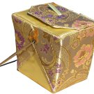 HOT & SEXY GOLD BROCADE CHINESE TAKE-OUT STYLE PURSE OS