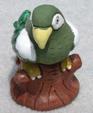 Peruvian Handcrafted Ceramic Parrot