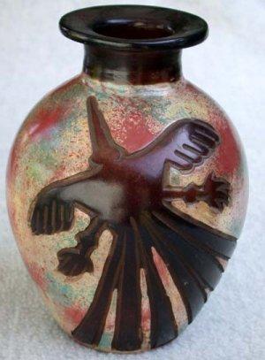 Chulucanas Nazca Pottery Handmade in Peru Decorative Vase