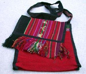 Fabric Purse Handmade Fabric  Alpaca Wool  Made in Peru
