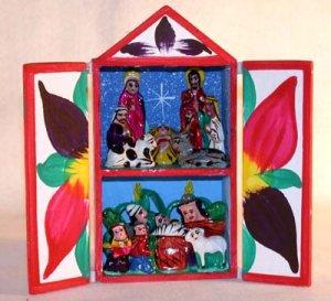 Retablo  Nativity Scene Made in Peru