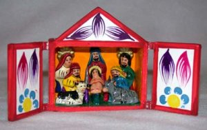 Retablo - Nativity Scene