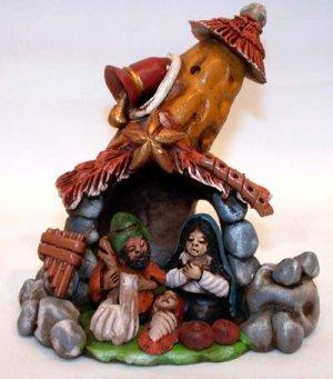 Nativity Scene  Clay Handmade in Peru