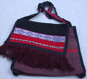Purse Woven Fabric Alpaca/Wool Multi-Color