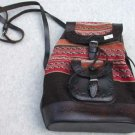 Backback  Leather and Cloth Made in Peru