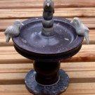 Combarbalita Stone Birdbath Figurine