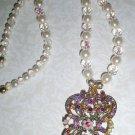 Victoria-Vintage Style Crystal Necklace