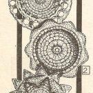 Crochet - Glass or Wine Coasters (ref: e1009c)