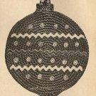 Crochet - Christmas Ball Pan Pot Holder (ref: e1056c)