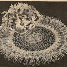 Crochet - Sunburst Ruffled Doily (ref: e1065c)