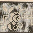 Crochet - Vining Rose and Trellis Edging/Insertion (ref: e1071c)
