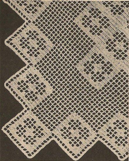 Crochet - Mosaic Scarf (ref: e1078c)