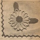 Tatted - Place Mat Flower Applique (ref: e1108t)