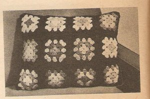Crochet - Granny Pillow (ref: e1117c)
