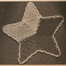 Crochet - Star Shaped Pan Pot Holder (ref: e1119c)