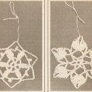 Crochet - Snowflake Ornaments (ref: e1159c)