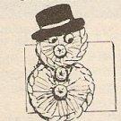 Crochet - Simple Snowman (ref: e1162c)