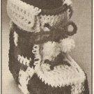 Crochet - Christmas Boot (ref: e1195c)
